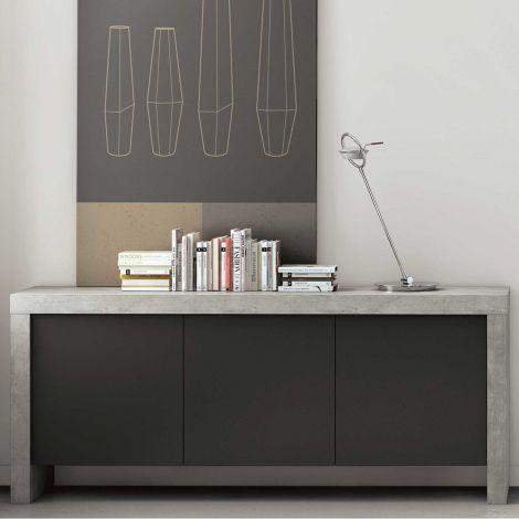 Dressoir Kobe 188cm - beton/zwart