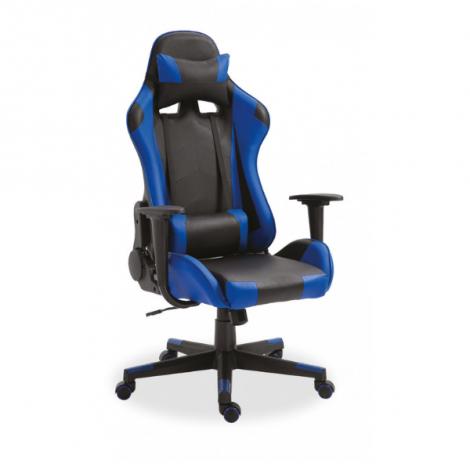 Gamestoel Maxime - zwart/blauw