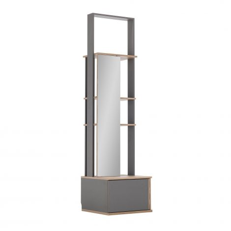 Vestiaire Birger 1 spiegeldeur 1 lade - grijs