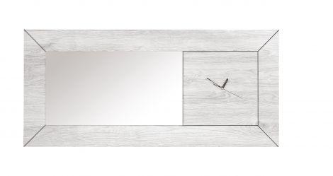 Miroir Neal avec pendule - chêne gris