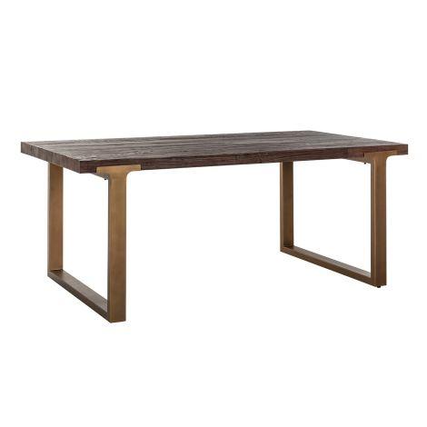 Eettafel Cromford 190x100 - bruin/goud