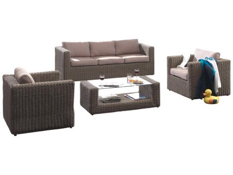 Loungeset Milan - naturel wicker