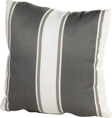 Kussen 30x30 - grijs/wit gestreept