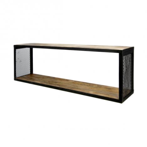 Wandplank Brixton 98x30cm – mangohout/ijzer