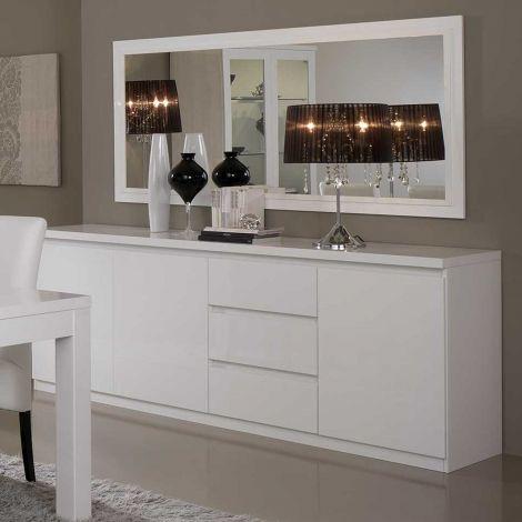 Bahut Roma 3 portes & 3 tiroirs - blanc