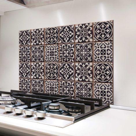 Muursticker Tegels achterwand keuken - grijstinten