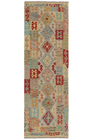 Tapis Afghan Traditionnel 300x80 - Multicouleur