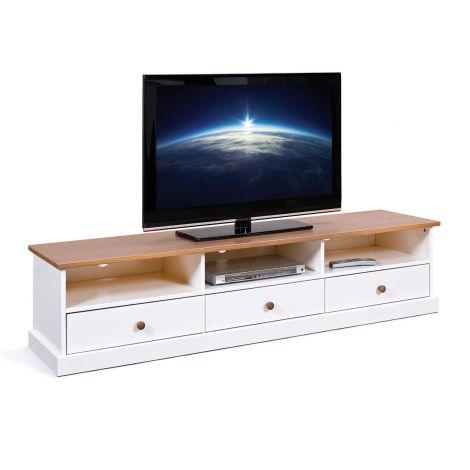 Tv-meubel Westerland 180cm - wit/bruin