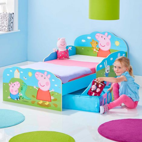 Lit junior à tiroirs Peppa Pig