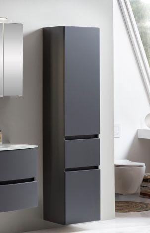 Colonne Kornel/Pisca 40cm 2 portes & 1 tiroir - gris graphite