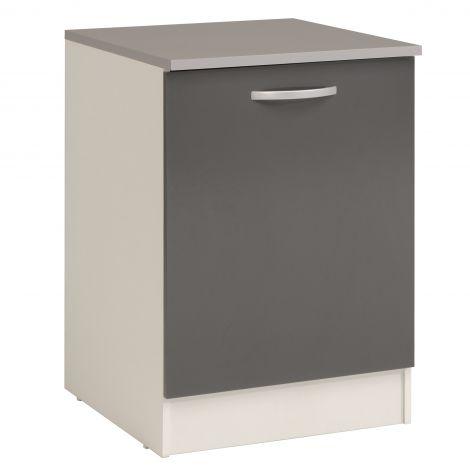 Onderkast Eko 60 cm met deur - grijs