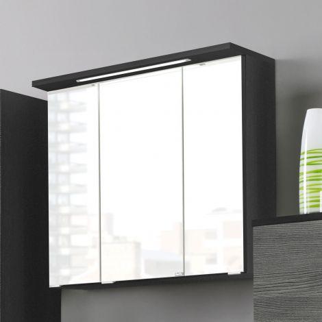 Spiegelkast Bobbi 70cm model 1 3 deuren & ledverlichting - grafiet