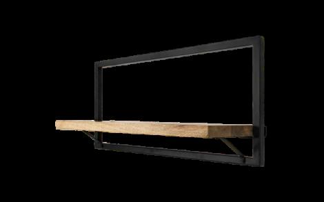 Wandplank Levels - 70x32 cm - mangohout / ijzer