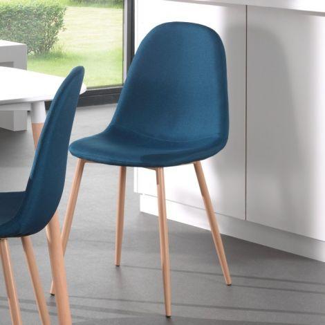 Set van 4 stoelen Yo - blauw