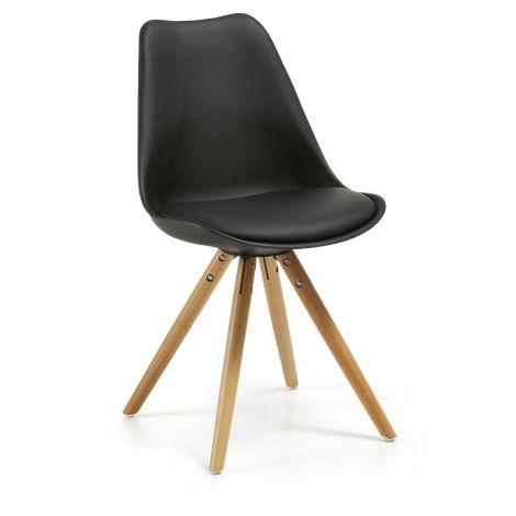 Chaise Ralf bois/plastique - noir
