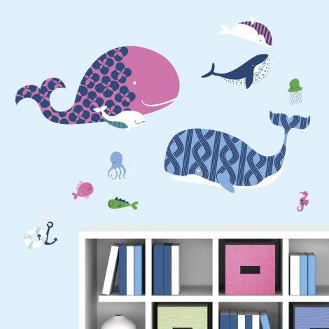 Muurstickers Sea Whales