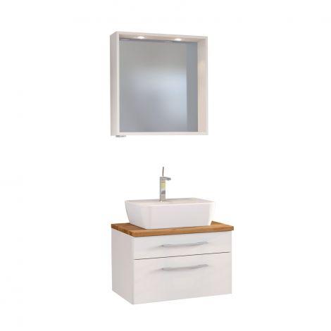 Set wastafelmeubel & spiegel Dasa 60cm - wit