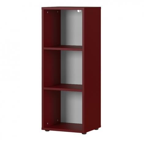 Bibliothèque basse Osmond 45cm - rouge