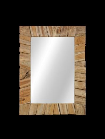 Wandspiegel - 60x80 cm - naturel - teak