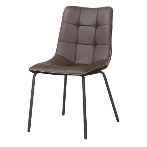 Lot de 4 chaises Lucie - brun