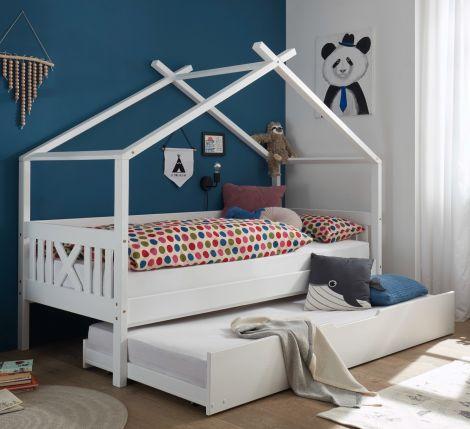 Huisbed Leona 90x200 - wit