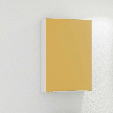 Armoire murale Hansen 40cm 1 porte - jaune/blanc