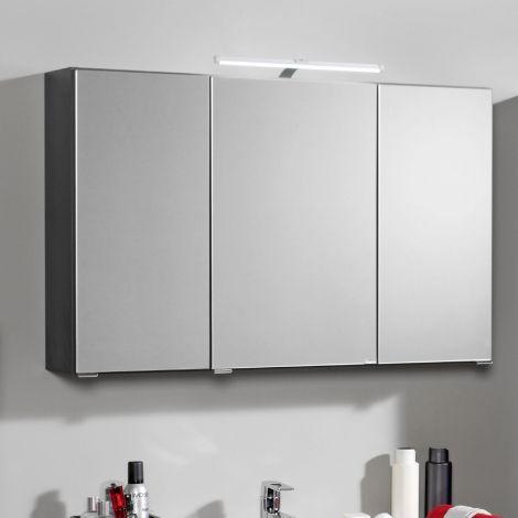 Spiegelkast Bobbi 100cm model 2 3 deuren & ledverlichting - grafiet