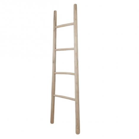 Decoratieve ladder 45x150cm - teak