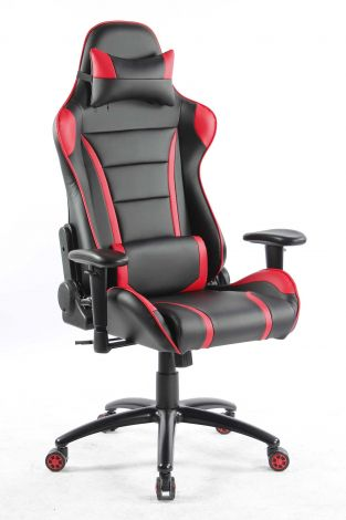 Chaise gamer Ringo - noir/rouge
