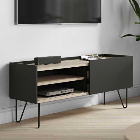 Tv-meubel Nina - eik/zwart