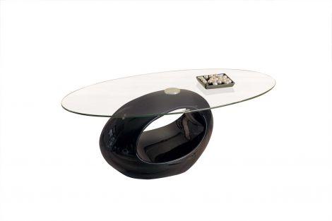 Salontafel Pucci met glazen blad - zwart