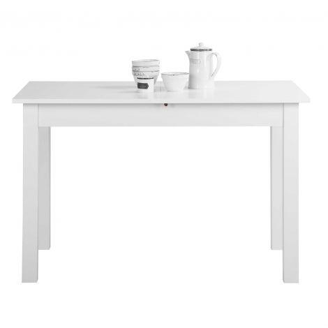 Table à manger extensible Coburg 120/160 - blanc