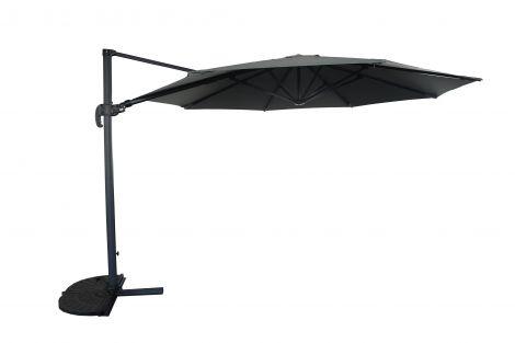 Parasol Borneo Ø350cm met kruisvoet en hoes - antraciet