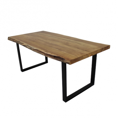 Table de repas SoHo 280x100cm cadre U - acacia/fer