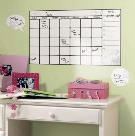 RoomMates stickers muraux - Calendrier décoratif avec marqueur