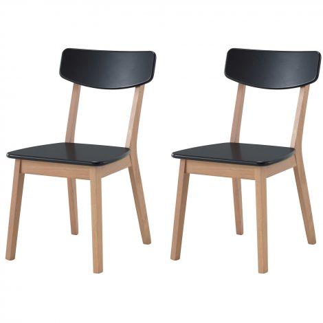 Set van 2 stoelen Anso - zwart