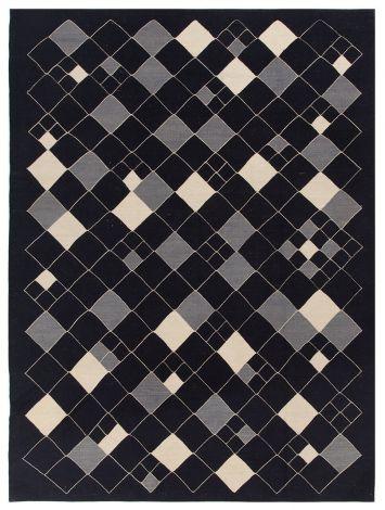 Tapis Afghan Moderne 200x150 - Noir