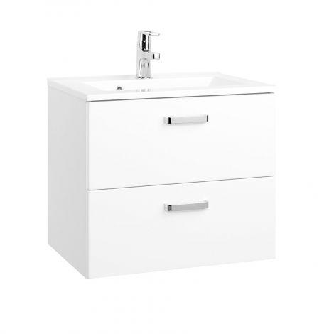 Meuble vasque Bobbi 60cm 2 tiroirs - blanc