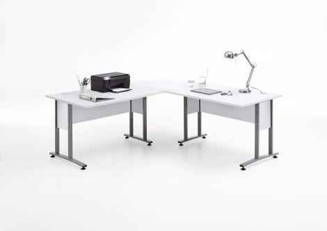 Bureau d'angle Gabi 120x120 - blanc brillant
