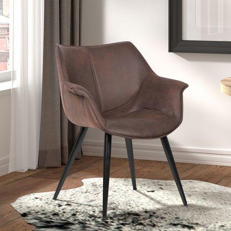 Set van 2 stoelen Milan - bruin