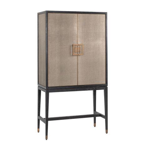 Wandkast Orlando 97cm 2 deuren - shagreen/eik/goud
