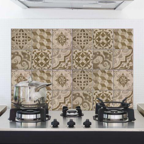 Muursticker Tegels achterwand keuken - beige