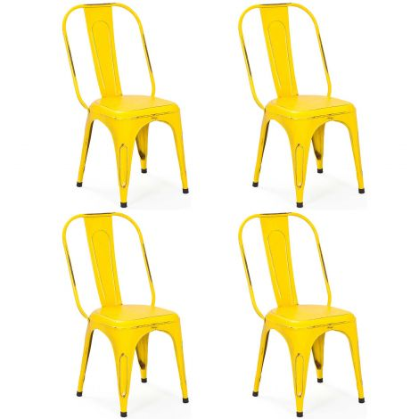 Lot de 4 chaises Aix - jaune