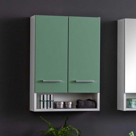 Hangkast Ricca 50cm 2 deuren - wit/groen