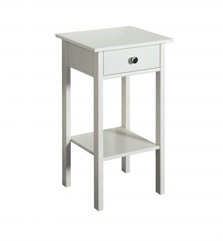 Table de chevet Tarik 1 tiroir - blanc