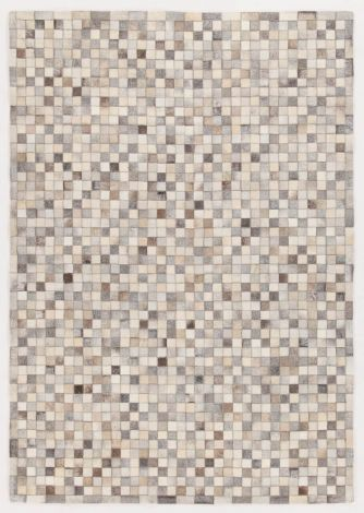 Tapis In Leather Patchwork 200x140 - gris