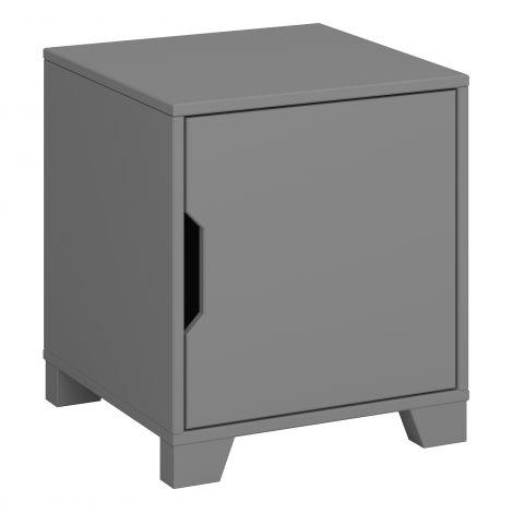 Table de chevet Loki 1 porte - gris
