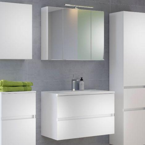 Set meuble lavabo Brama 100cm - blanc