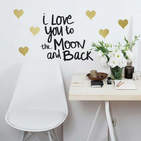 Muursticker Love You To The Moon