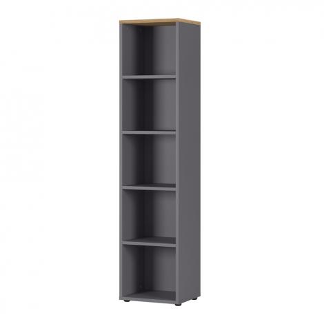 Bibliothèque Osmond 45cm - graphite/chêne